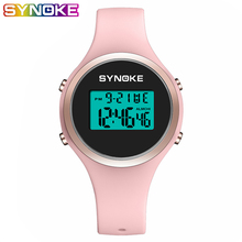SYNOKE Digital Watch Women Silicone Lady LED Display Waterproof Womens Watches Fashion Wristwatches Sports