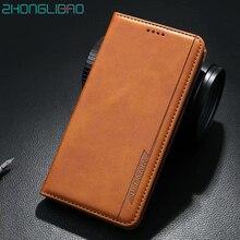 아이폰 11 프로 XR Xs 맥스 X 8 7 6 플러스 X 가죽 플립 지갑 책 표지 아이폰 11 11Pro coque에 대한 고급 자기 전화 케이스