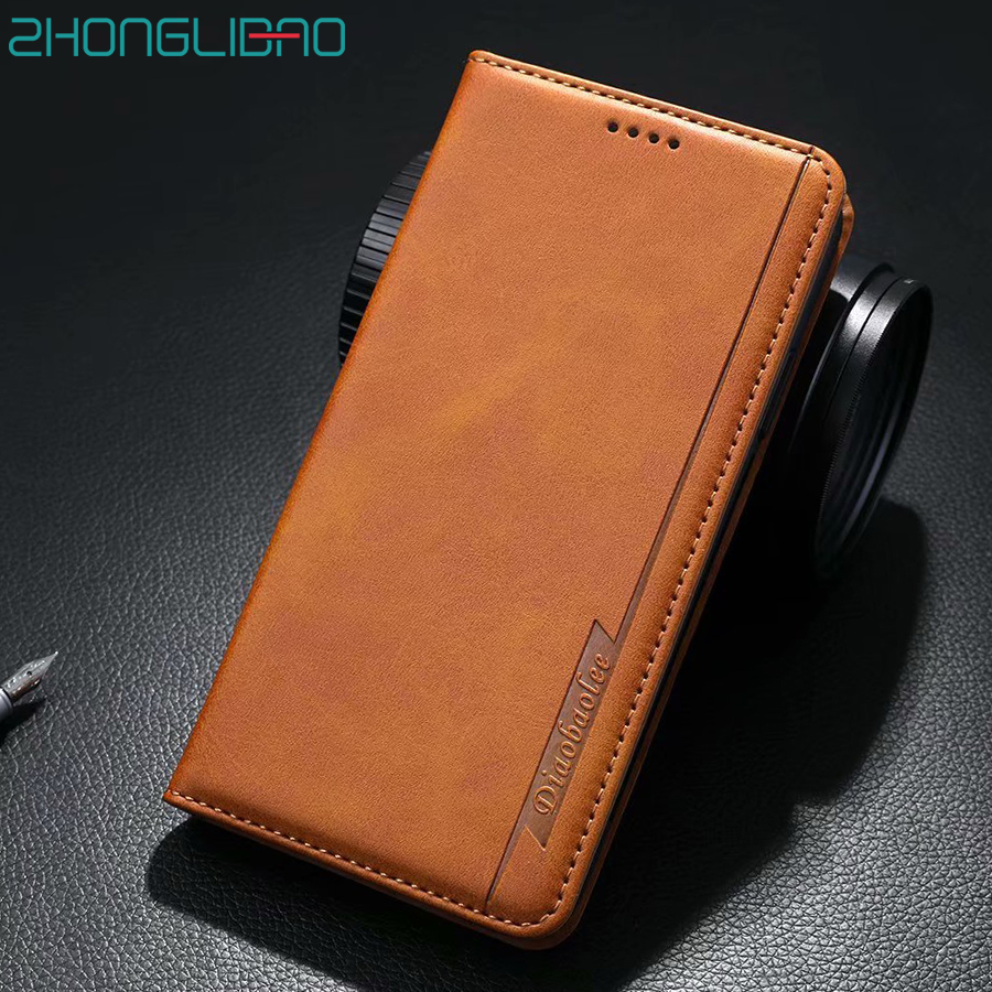 Luxury Magnetic Phone Case for IPhone 11 Pro XR Xs MAX X 8 7 6 Plus X Leather Flip Wallet Book Cover for IPhone 11 11Pro Coque(China)