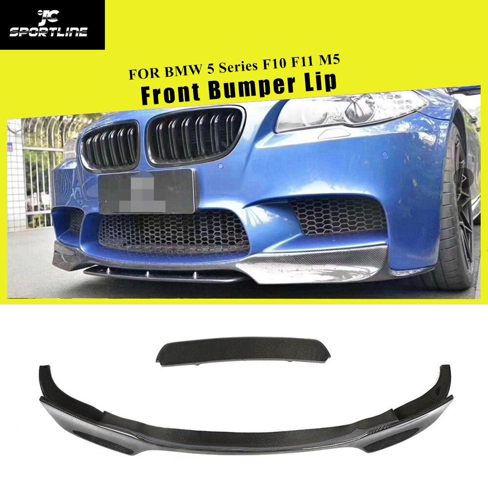 Full Carbon Fiber Front Bumper Lip For BMW F10 F11 M5 2012   2016 Front Bumper Lip Splitters Bumpers     - title=