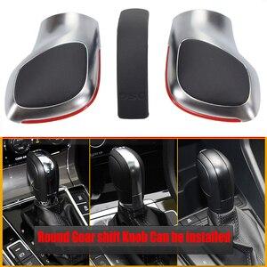 Image 2 - Car Red/Blue Gear Shift Knob Lever Stick Chrome Matt For Volkswagen VW Golf 7 DSG Cover Emblem