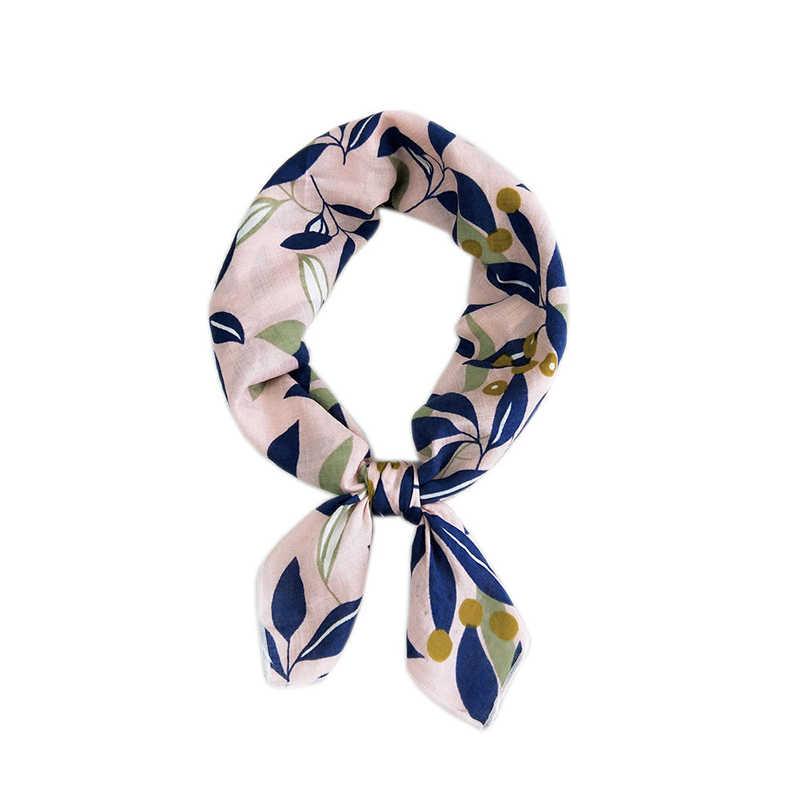 55 ซม.ผ้าไหมซาตินผ้าพันคอผู้หญิงหัวผอม Retro Hair Tie Band ขนาดเล็กแฟชั่นสแควร์คอ Kerchief ผ้าพันคอ