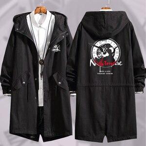 Image 1 - Anime DATE A LIVE Tokisaki Kurumi Cosplay Long Windbreaker Women Men Autumn Winter Warm Hooded Coat Zip Wind jacket outercoat