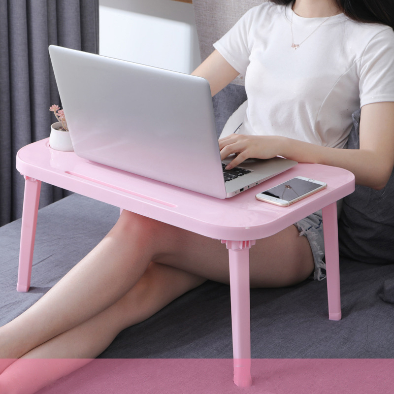 Adjustable Folding Laptop Table Notebook PP Desk Table Stand Portable Bed Tray Portable Anti-Skid Table Office Furniture