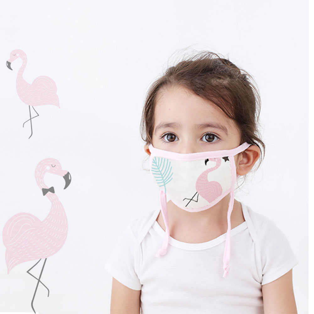 5pcs/lot Children Masks Anti Dust Cotton Washable Mouth Masks Random Color Anti Haze PM2.5 Cute Cartoon Print Kids Face Masks