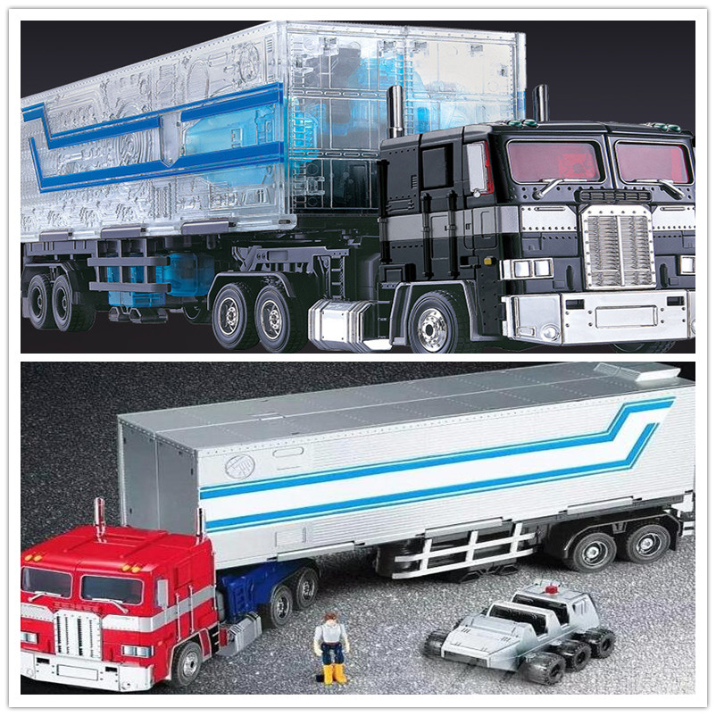 Transformers G1 Optimus Prime With Trailer Reissue New Gift In Box KO Two Colors