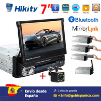 Hikity 7'' Car radio 1 din HD Autoradio Touch Digital Screen GPS Navigation Bluetooth FM USB SD MP5 Support Rear View Camera
