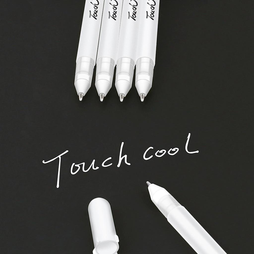 Краски маркеры белыми чернилами 0,8 мм гелевая ручка черного цвета ручка унисекс подарок для детей канцелярские обучение студентов школьные принадлежности|Фломастеры|   | АлиЭкспресс