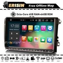 Erisin ES8128V Car Stereo Autoradio Android Auto 10 CarPlay GPS DSP DAB OBD Bluetooth WiFi For VW Beetle Golf Touran Passat SEAT