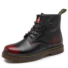 Сезон осень зима; Зимние ботинки для мужчин на шнуровке с высоким