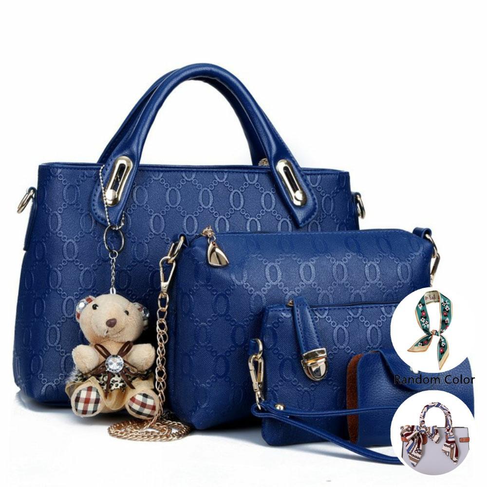 New Arrival Four-piece Set Shoulder Bag Trendy Bag Picture Package Shoulder Bag/ Hand Bag WOMEN'S Bagcrossbody Bag Card Bag