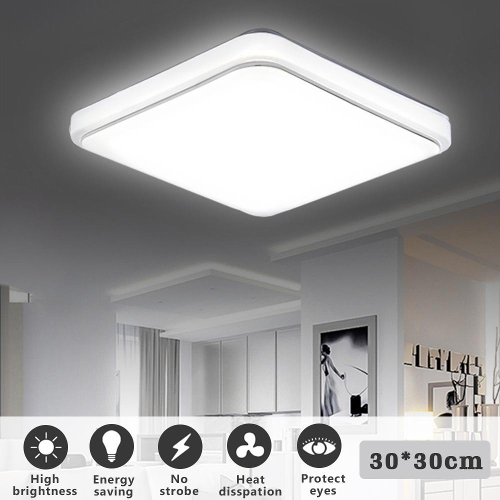 LED Ceiling Lights 24W 1000LM Modern Lamp Square Flush Mount Fixture Lighting For Living Room Bedroom Kitchen Study Balcony