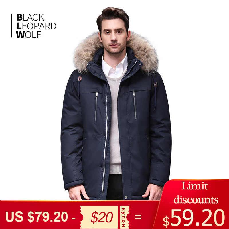 Blackleopardwolf 2019 겨울 자켓 남성 패션 코트 thik parka 남성 알래스카 분리형 아웃웨어 편안한 커프스 BL-6605M