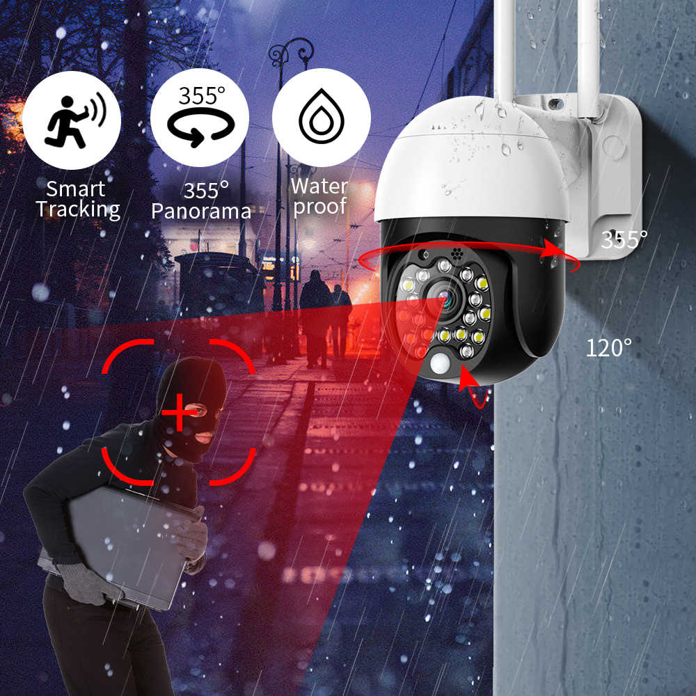 Sdeter 1080P Beveiliging Wifi Camera Outdoor Ptz Speed Dome Draadloze Cctv Ip Camera Pan Tilt 4X Zoom Audio Ir surveillance P2P Cam