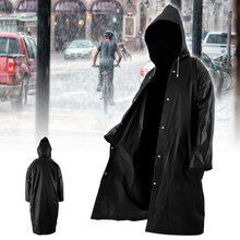 Модный женский и мужской прозрачный дождевик из ЭВА, портативный плащ для путешествий на открытом воздухе, дождевик, водонепроницаемый, для кемпинга, с капюшоном, пластиковый дождевик