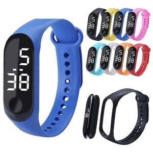 Digital Watch 50mwaterproof Deportivo Silicone Reloj Glass LED Montre Dial Men Hombre