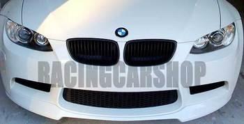 UNPAINTED V SYLE FRONT LIP SPOILER for BMW 3-SERIES E90 E92 E9X M3 front bumper 2007-2013 B087F 1