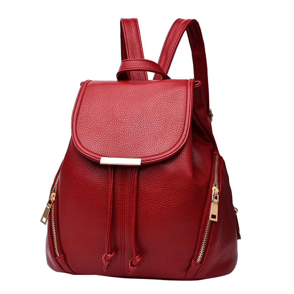 Sleeper #W401 2019  School Leather Backpack Shoulder Bag Mini Backpack For Women & Girls рюкзак женский Solid Hot Free Shipping