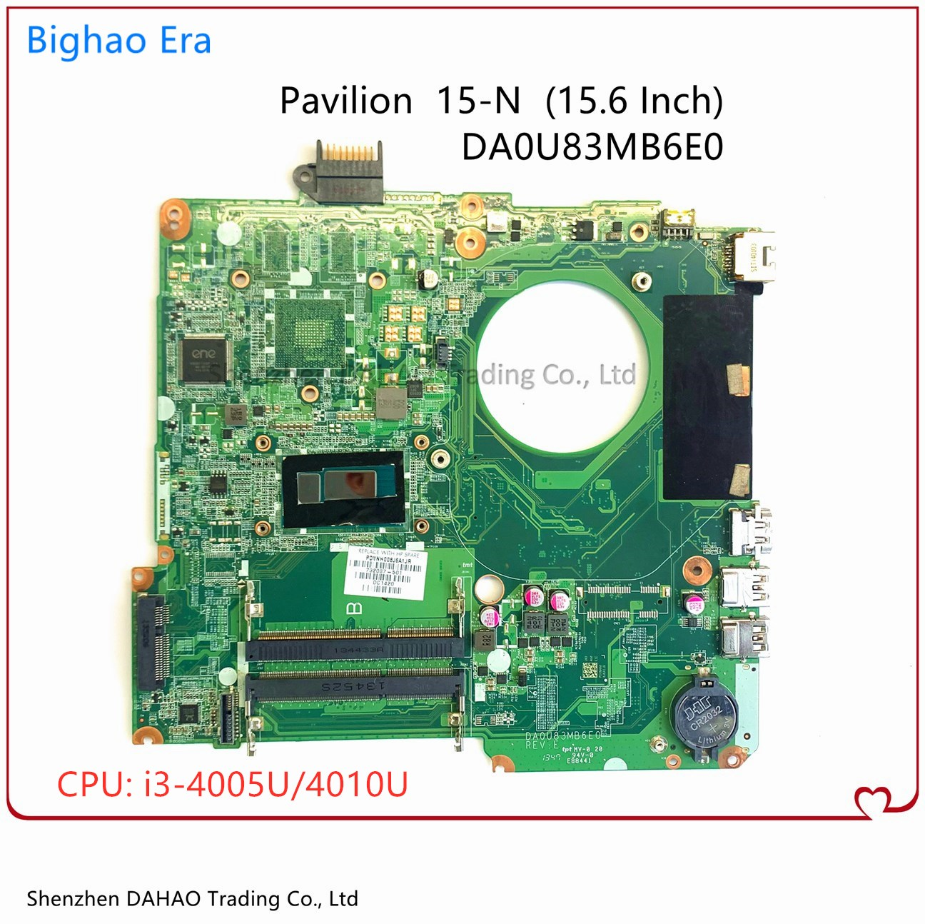 790202-501 782103-501 732087-501 For HP Pavilion 15 15-N 15-F U83 Laptop Motherboard DA0U83MB6E0 W/ I3 CPU DDR3L 100% Fully Test 1