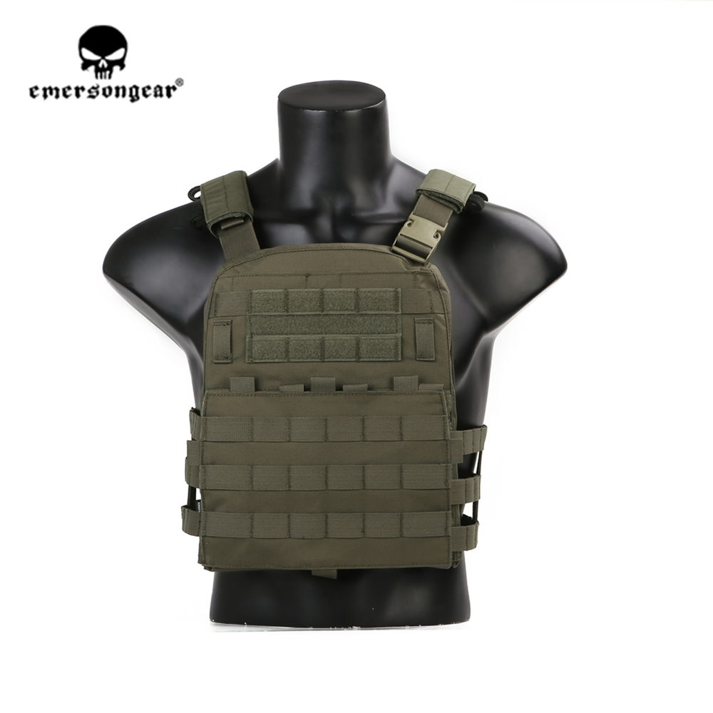 Emersongear Tactical-Vest Protective-Gear Green-Plate-Carrier Ranger Lightweight Body-Armor title=