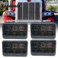 60W 5'' 4x6 Inch Super Headlight 6D Approved Square Led Work Light Spot Beam for Ford Mustang Nissan Sand rails, Cars, Truck,