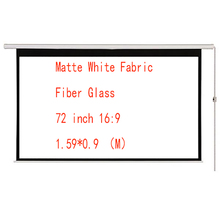 Thinyou 72 inch 16:9 Matte White Fabric Fiber Glass Motorized Electric Projection Screen Wall Mount With Remote Control