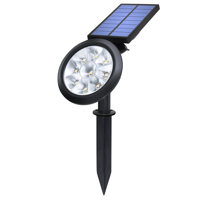 Upgraded Solar Spotlights Waterproof Adjustable 9 LED Wall/Landscape Solar Lights Solar Lamp for Yard Lawn Garden