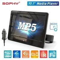 Monitor traseiro do assento do carro 10.1 polegadas  painel led digital mp5 ir fm telefone espelhado link função touch screen SH1028-MP5
