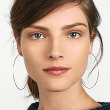 huge thin hoops earrings vintage gold alloy Geometric circle modern earrings for women цена 2017