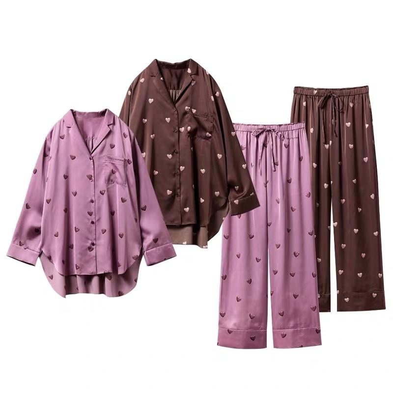 2020 spring new cute cartoon bear collar print hole thread cotton home wear loose skirt nightgown