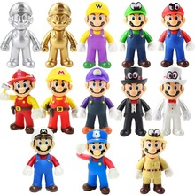 12cm Super Mario Bros Luigi Mario Yoshi Koopa Yoshi Mario Maker Odyssey Mushroom Toadette PVC Action Figures Toys Model Dolls рубашка mario machardi mario machardi mp002xm246yl
