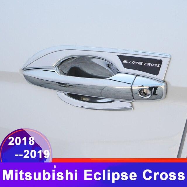 Autocollant de Protection de bol pour Mitsubishi Eclipse Cross   Poignée extérieure de voiture, couvercle de Protection de bol de porte, accessoires 2018 2019