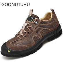 2019 new fashion men's shoes casual genuine leather male sneakers breathable mesh lace up shoe man flats shoes for men hot sale