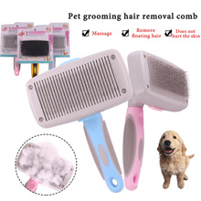 Combs Dog Hair Remover Cat Brush Grooming Tools Pet Trimmer Combs for Dog Cat Stainless steel automatic hair removal comb цена 2017