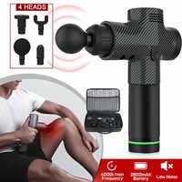 Hohe Qualität Percussion Massage Pistolen Werkzeug 4 Köpfe 30 Geschwindigkeiten Vibration Muscle Körper Therapie Massager EK-Neue