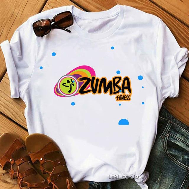 Zumba fitness t shirt women dance lover sport gymnastics clothes tshirt femme hip rock shirt summer tops female graphic tees