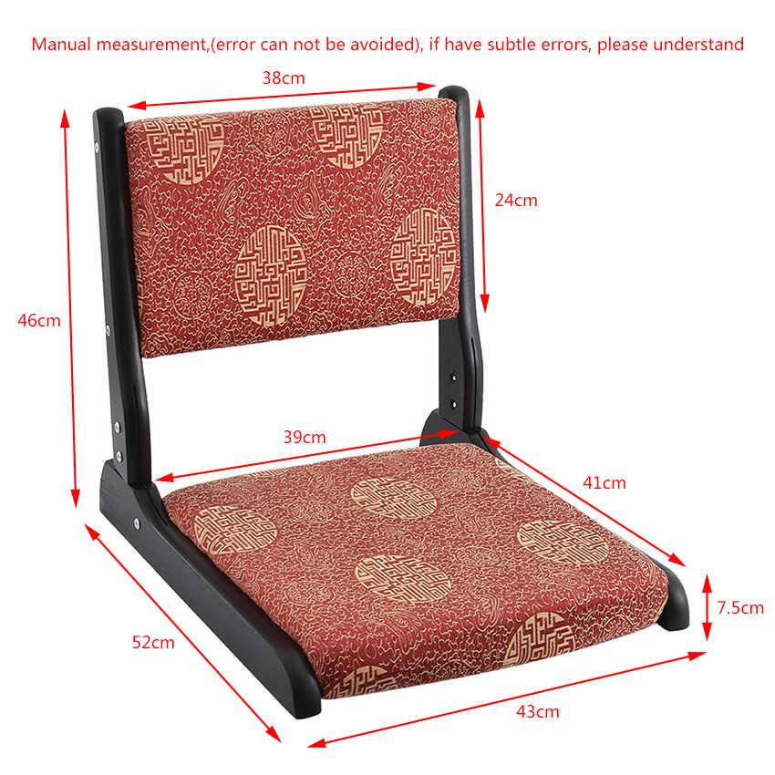 Складной ленивый татами кровать стул из цельного дерева без ноги стул сиденье высокой плотности эластичный хлопок складной пол сиденье Кресло