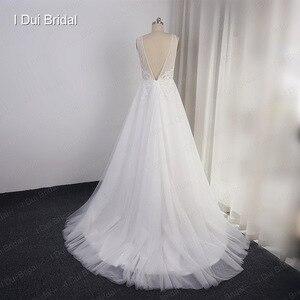 Image 3 - Свадебные платья в стиле бохо, ТРАПЕЦИЕВИДНОЕ пляжное платье невесты из тюля с изображением слоев, Прямая поставка