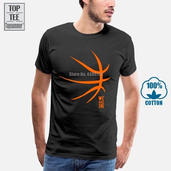 2019 Newest Letter Print T-Shirt Fashion T-Shirt Basketballer Fans Team We Are One Tee Shirts letter print stepped hem tee