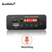 DC 5V-12V V5.0 MP3 placa decodificadora WMA módulo TF de Audio USB FM Radio AUX MP3 jugador manos libres para coche soporte de grabación