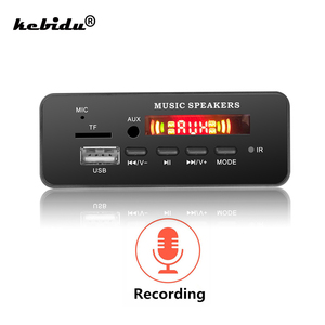 Image 1 - Плата декодера MP3 WMA DC 5 12 в, Bluetooth V5.0, аудио модуль, USB TF FM радио AUX mp3 плеер, гарнитура для автомобиля, поддержка записи