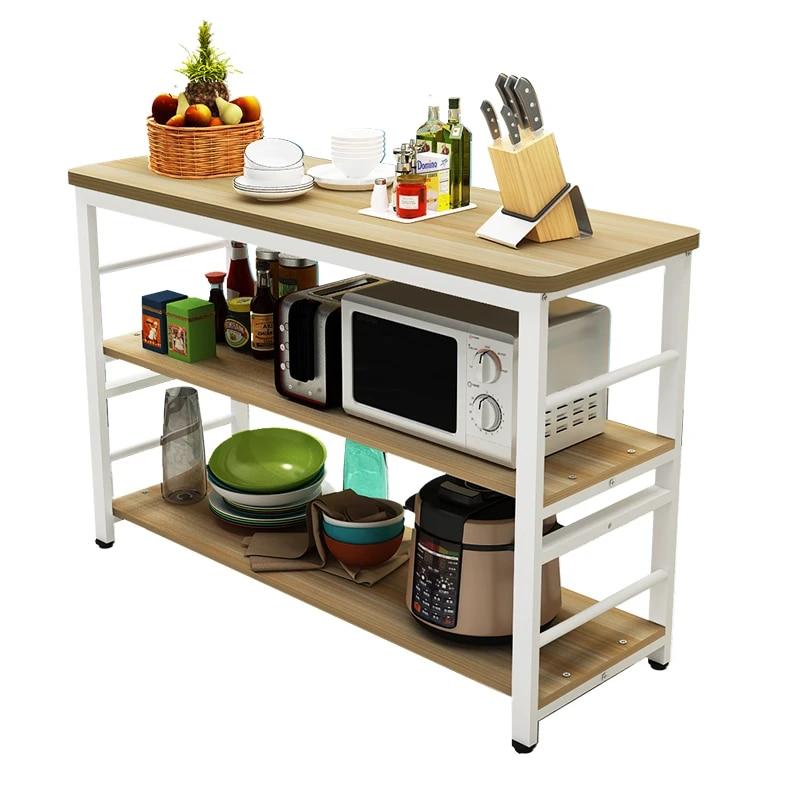 kitchen racks cutting table household storage rack floor shelf microwave oven storage console custom