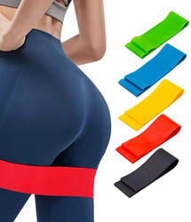 LikeGlobal Yoga Resistance Rubber Bands Fitness Exercise Gym Strength Training Pilates Latex Elastic Bands Indoor Equipment