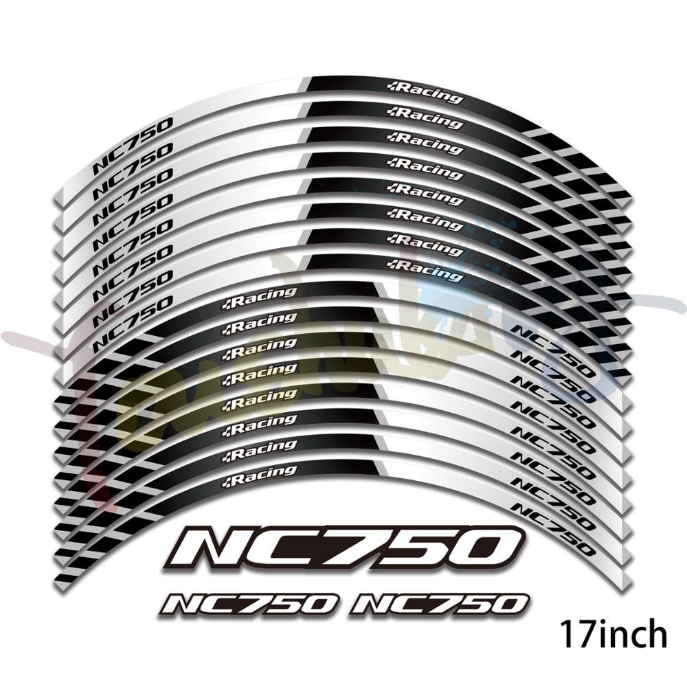 New High Quality 16 Pcs Fit Motorcycle Wheel Sticker Stripe Reflective Rim For Honda Nc750