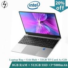 LHMZNIY Gaming SSD laptop 15.6inch Metal Body Intel i7 4500U 16GB RAM Windows 10 Notebook Student Office Work BT WiFi Webcam