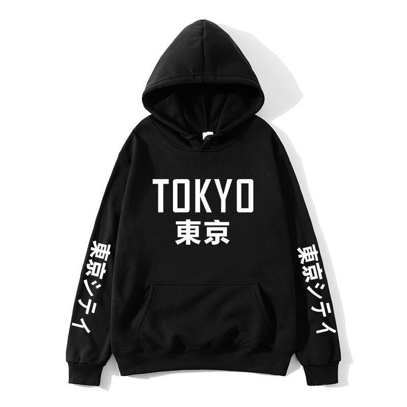2019 New Arrival Japan Harajuku Hoodies Tokyo City Printing Pullover Sweatshirt Hip Hop Streetwear Men/Women Hooded Sweatshir