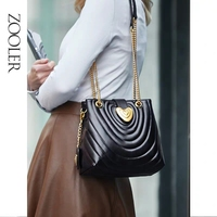 ZOOLER Brand Designer Genuine Leather Women Shoulder Bags for Ladies Tote Bag Roomy Commuting Handbags Luxury Cow bags bolsa
