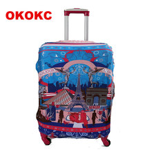 Travel Luggage Suitcase Protective Cover for Trunk Case Apply to 19''-32'' Suitcase Cover Thick Elastic Perfectly стоимость