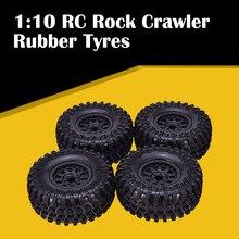 4PCS AX-3021 AUSTARHOBBY 2.2 Inch Rubber Tyres & Beadlock Wheel Rim for 1:10 Axial SCX10 Traxxas TRX-4 RC Rock Crawler Car