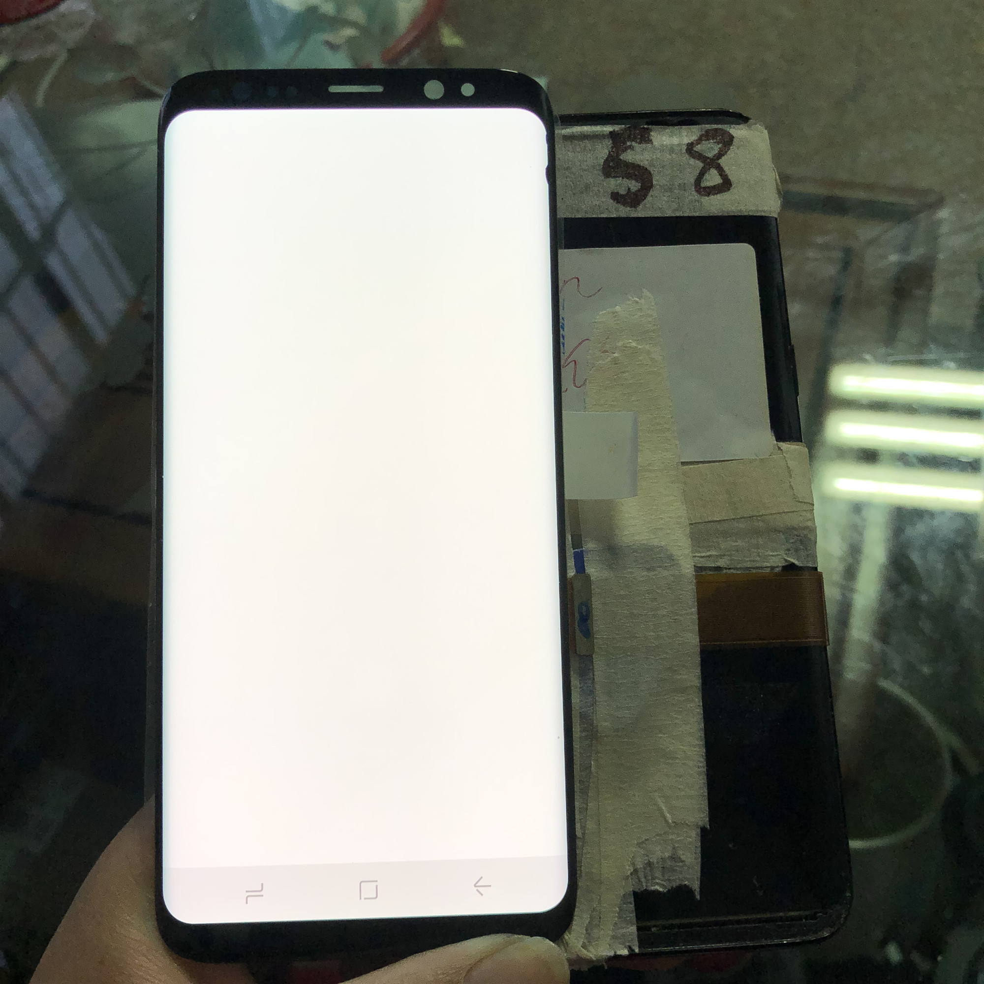 Super Amoled LCD For <font><b>Samsung</b></font> Galaxy S8 lcd <font><b>display</b></font> for <font><b>SAMSUNG</b></font> S8 <font><b>G950</b></font> G950F <font><b>Display</b></font> Touch Screen Digitizer with two dead pixel image